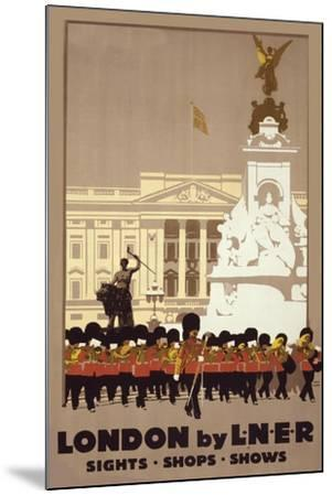 London by Liner-Vintage Apple Collection-Mounted Giclee Print