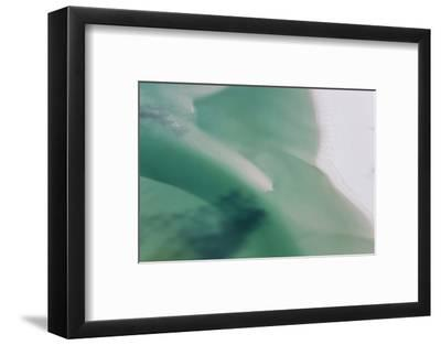 Sea and Fresh Water Covering Beach, Hill Inlet, Queensland, Australia-Peter Adams-Framed Photographic Print
