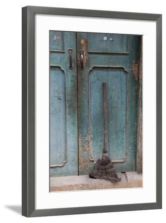 Old Town of Xingping Along the Li River, Doorway and Broom-Darrell Gulin-Framed Photographic Print