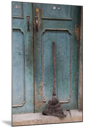 Old Town of Xingping Along the Li River, Doorway and Broom-Darrell Gulin-Mounted Photographic Print