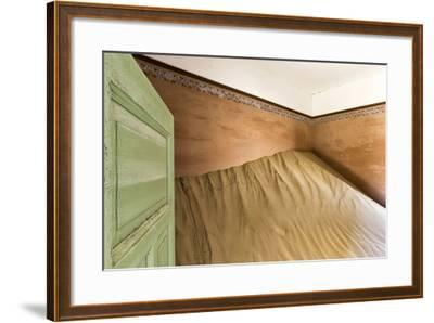 Namibia, Kolmanskop, Sperrgebeit. Abandoned House Interior-Wendy Kaveney-Framed Photographic Print