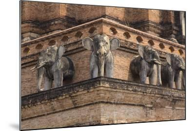 Thailand, Chiang Mai, Wat Chedi Luang. Elephant Statues-Emily Wilson-Mounted Photographic Print