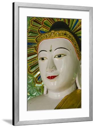 Myanmar. Mandalay. Sagaing Hill. Thirty Caves Temple. Buddha-Inger Hogstrom-Framed Photographic Print