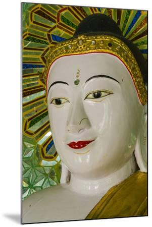 Myanmar. Mandalay. Sagaing Hill. Thirty Caves Temple. Buddha-Inger Hogstrom-Mounted Photographic Print