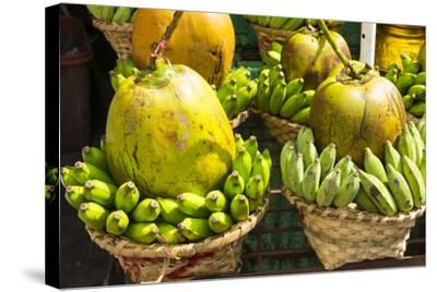 Myanmar. Yangon. Botataung Pagoda. Offerings of Fruit for Sale-Inger Hogstrom-Stretched Canvas Print