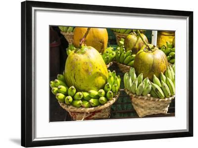 Myanmar. Yangon. Botataung Pagoda. Offerings of Fruit for Sale-Inger Hogstrom-Framed Photographic Print