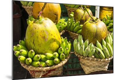 Myanmar. Yangon. Botataung Pagoda. Offerings of Fruit for Sale-Inger Hogstrom-Mounted Photographic Print