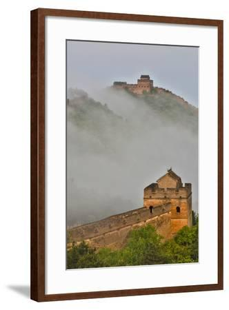 Great Wall of China on a Foggy Morning. Jinshanling, China-Darrell Gulin-Framed Photographic Print