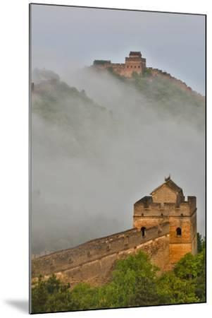 Great Wall of China on a Foggy Morning. Jinshanling, China-Darrell Gulin-Mounted Photographic Print