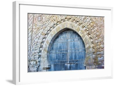Rabat, Morocco, Kasbah Udaya Close Up of Design of Inside Door-Bill Bachmann-Framed Photographic Print