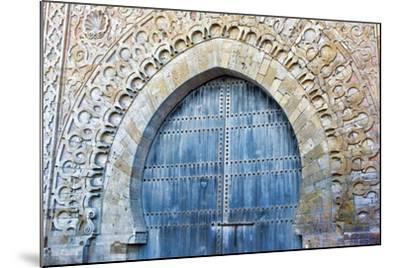 Rabat, Morocco, Kasbah Udaya Close Up of Design of Inside Door-Bill Bachmann-Mounted Photographic Print