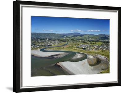 Waikanae River Mouth, Kapiti Coast, Wellington Region, New Zealand-David Wall-Framed Photographic Print
