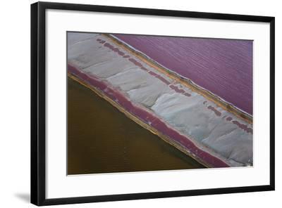Salt Works, Aerial View, Namib Desert, Namibia-Peter Adams-Framed Photographic Print