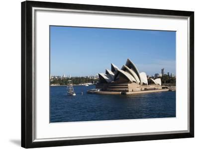 Australia, Sydney. Harbor Area, Landmark Sydney Opera House-Cindy Miller Hopkins-Framed Photographic Print
