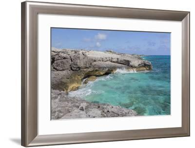 Bahamas, Exuma Island, Cays Land and Sea Park. Site of the Blow Hole-Don Paulson-Framed Photographic Print