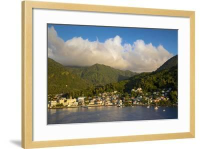 Sunset over the Hills Surrounding Soufriere, St. Lucia, West Indies-Brian Jannsen-Framed Photographic Print