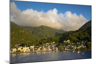 Sunset over the Hills Surrounding Soufriere, St. Lucia, West Indies-Brian Jannsen-Mounted Photographic Print