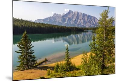 Canada, Alberta, Banff National Park, Two Jack Lake and Mount Rundle-Jamie & Judy Wild-Mounted Photographic Print