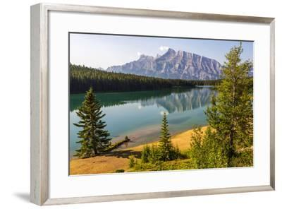 Canada, Alberta, Banff National Park, Two Jack Lake and Mount Rundle-Jamie & Judy Wild-Framed Photographic Print