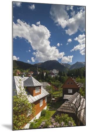 Romania, Maramures, Statiunea Borsa, Ski Resort, Spring, Village View-Walter Bibikow-Mounted Photographic Print