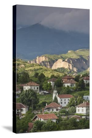 Bulgaria, Southern Mountains, Melnik-Area, Village of Lozenitsa-Walter Bibikow-Stretched Canvas Print