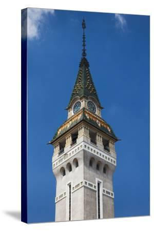 Romania, Transylvania, Targu Mures, County Council Building and Tower-Walter Bibikow-Stretched Canvas Print