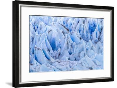 Chile, Patagonia, Torres del Paine NP. Close-up of Blue Glacier-Cathy & Gordon Illg-Framed Photographic Print