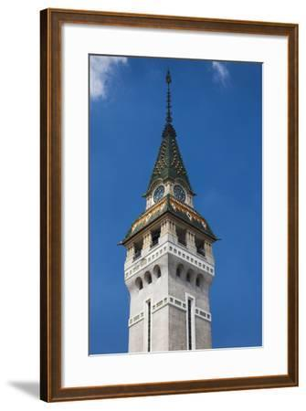 Romania, Transylvania, Targu Mures, County Council Building and Tower-Walter Bibikow-Framed Photographic Print