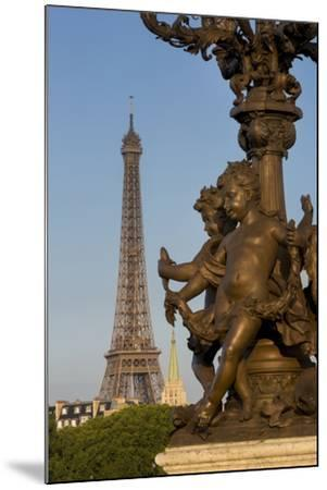 Pont Alexndre III with Eiffel Tower, Paris, France-Brian Jannsen-Mounted Photographic Print