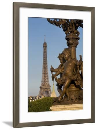 Pont Alexndre III with Eiffel Tower, Paris, France-Brian Jannsen-Framed Photographic Print