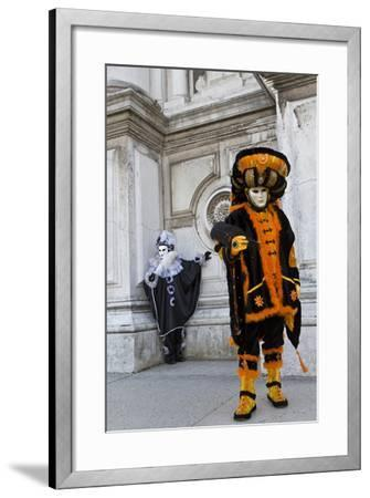 Venice, Italy. Mask and Costumes at Carnival-Darrell Gulin-Framed Photographic Print