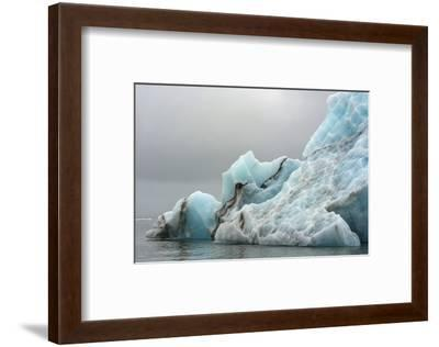 Norway. Svalbard. Spitsbergen. Brepollen. Iceberg with Moraine Dust-Inger Hogstrom-Framed Photographic Print