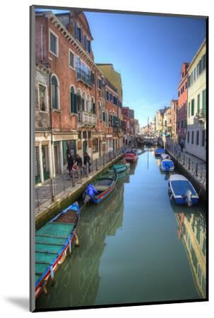 Work Boats Along Canals of Venice, Italy-Darrell Gulin-Mounted Photographic Print