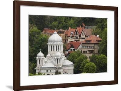Romania, Transylvania, Brasov, Buna Vestire Orthodox Church-Walter Bibikow-Framed Photographic Print