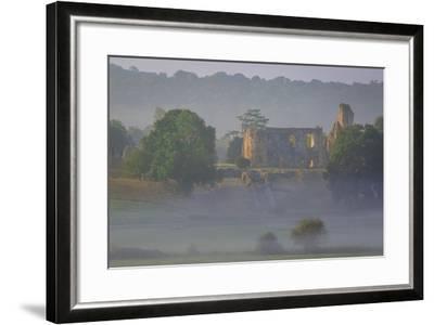 Misty Dawn over Sherborne Castle, Sherborne, Dorset, England-Brian Jannsen-Framed Photographic Print
