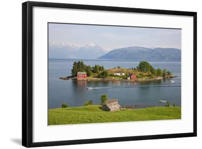 Small Island in Hardangerfjorden Nr Bergen, Western Fjords, Norway-Peter Adams-Framed Photographic Print