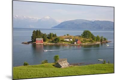 Small Island in Hardangerfjorden Nr Bergen, Western Fjords, Norway-Peter Adams-Mounted Photographic Print