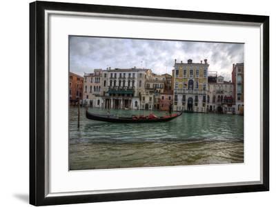 Gondolas Along the Canals of Venice, Italy-Darrell Gulin-Framed Photographic Print