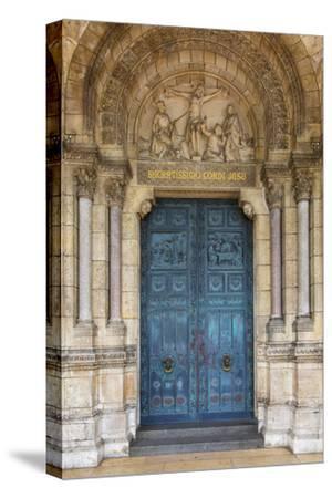 Doors to Basilique Du Sacre Coeur, Montmartre, Paris, France-Brian Jannsen-Stretched Canvas Print