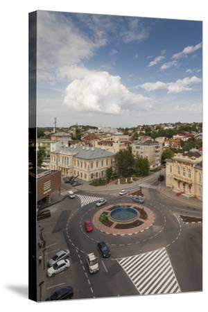 Romania, Danube River Delta, Tulcea, Elevated City View-Walter Bibikow-Stretched Canvas Print