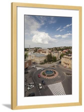 Romania, Danube River Delta, Tulcea, Elevated City View-Walter Bibikow-Framed Photographic Print