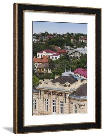 Romania, Danube River Delta, Tulcea, View with MGM Palace Club-Walter Bibikow-Framed Photographic Print