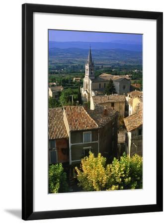 Landscape of Bonnieux, Provence, France-Peter Adams-Framed Photographic Print