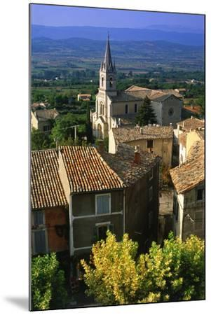 Landscape of Bonnieux, Provence, France-Peter Adams-Mounted Photographic Print