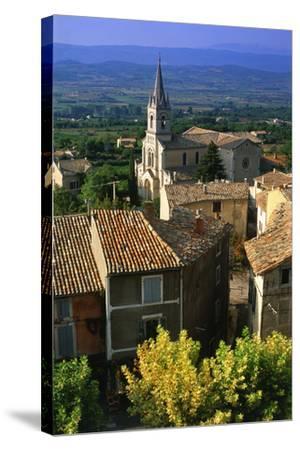 Landscape of Bonnieux, Provence, France-Peter Adams-Stretched Canvas Print