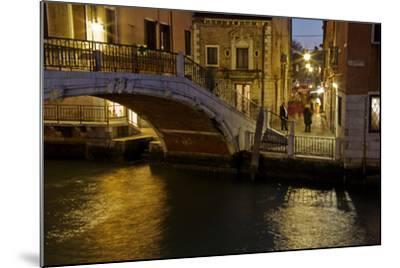 Europe, Italy, Venice, Night Canal-John Ford-Mounted Photographic Print