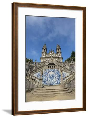 Lamego, Portugal, Shrine of Our Lady of Remedies Exterior Steps-Jim Engelbrecht-Framed Photographic Print