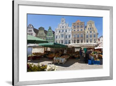 New Market Square, Rostock, Germany-Peter Adams-Framed Photographic Print
