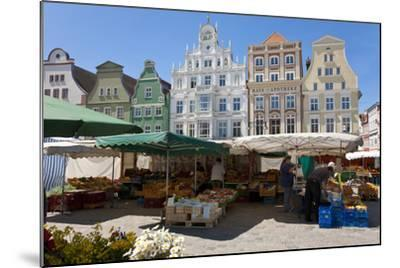 New Market Square, Rostock, Germany-Peter Adams-Mounted Photographic Print