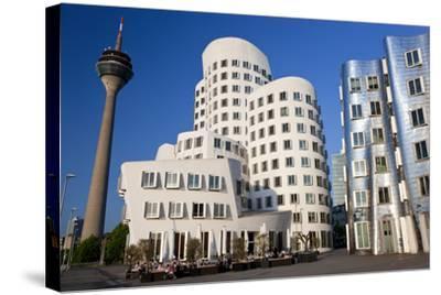 The Neuer Zollhof Building, Media Harbor, Dusseldorf, Germany-Peter Adams-Stretched Canvas Print